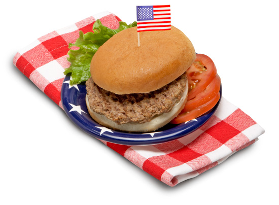 All American Burger on a Whole Grain Bun - Individually Wrapped
