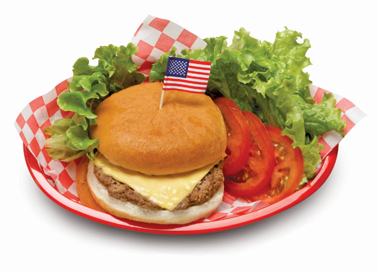 All American Cheeseburger on a Whole Grain Bun - Individually Wrapped