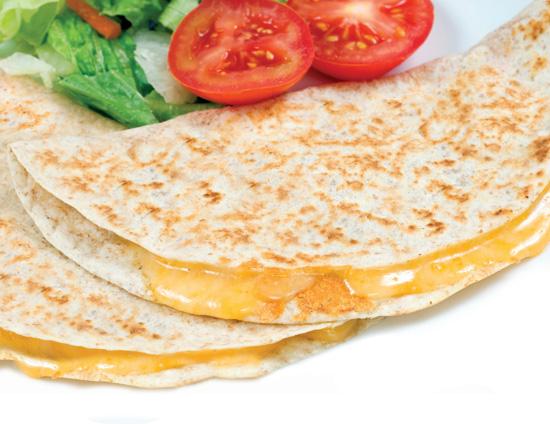 Twice Grilled Breakfast Quesadilla on a Whole Grain Flour Tortilla ...